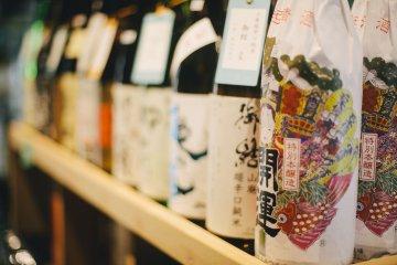 <p>Sake bottles</p>
