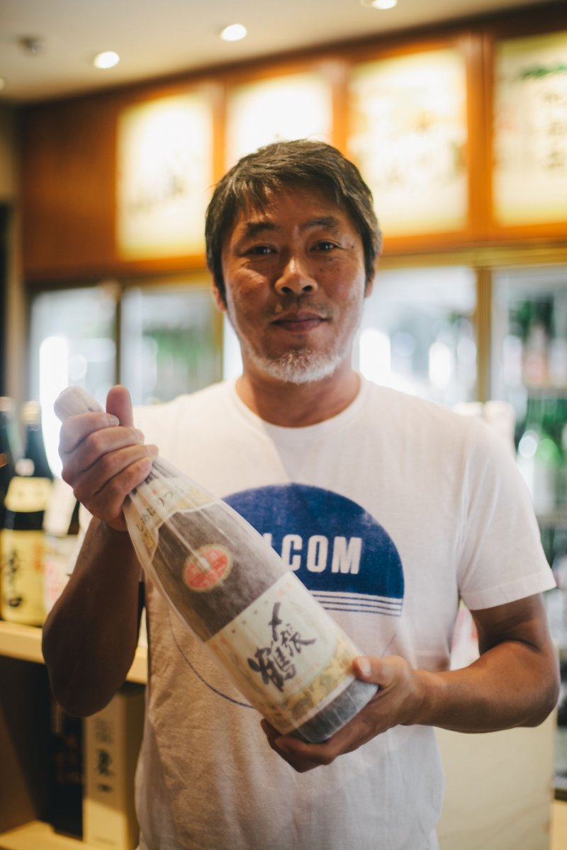 <p>Miyata, the friendly owner with a passion for great sake</p>