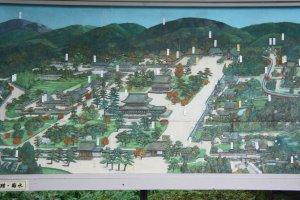 Peta Nanzen-ji, bisa dilihat seberapa luasnya kompleks kuil ini.