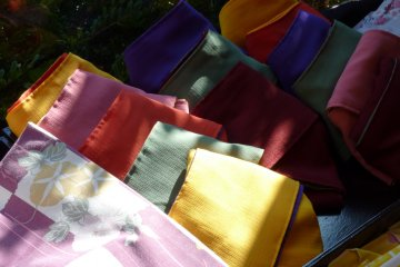 <p>The obi that we were able to choose from all looked splendid and very colorful!</p>