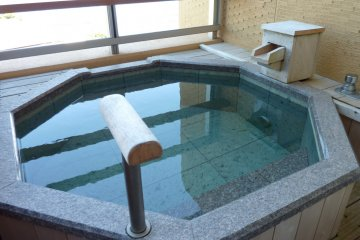 <p>Our private outdoor hot bath, for us to enjoy day or night on the balcony</p>
