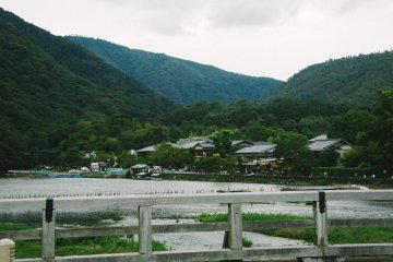 Vista del monte Arashima desde Togetsukyo