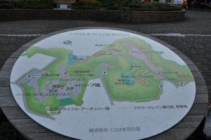 Map of Kurihama Flower Park