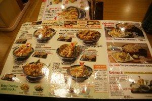 เมนูรายการอาหารทั้งฉบับภาษาญี่ปุ่นและฉบับภาษาอังกฤษ พร้อมภาพให้เลือกตามอัธยาศัย
