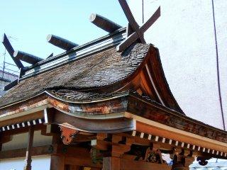 稲荷神社のクローズアップ