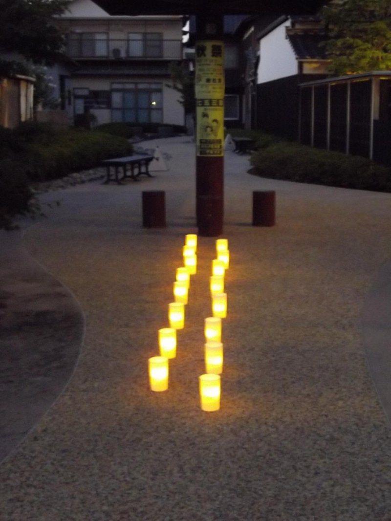 Lighting the street for nighttime activities, Soja City, Okayama