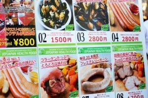 각 길거리 판매점마다 다른 음식들을 제공한다. 물론 대부분이 소세지가 주 요리이지만, 굴을 먹을 수 있는 곳도 있다.