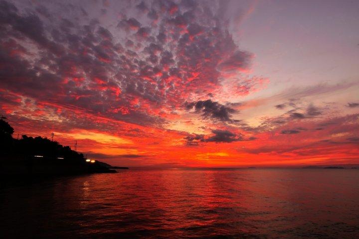 燃える海と空を見た双海
