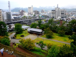 Looking towards Kofu Station