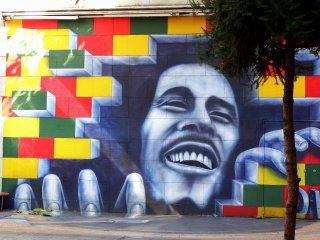 Tranh vẽ Bob Marley trên tường