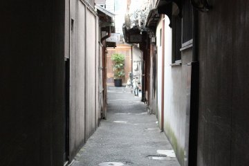 <p>A back alley of the Shinbashi&nbsp;district. Teahouses are standing here, too&nbsp;</p>