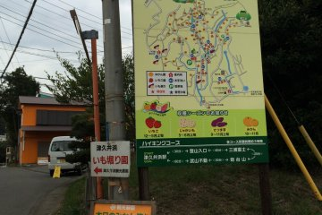 <p>One of the many directional signs leading the way to the Mikan Orchard of&nbsp;Tsukuihama Tourist Farm.</p>