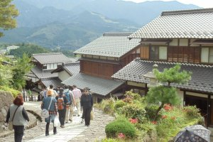 The steep streets of Magome