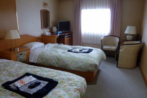 The twin rooms were comfortable and spacious.