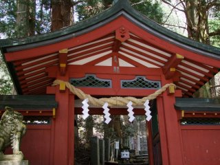 Shrines in Japan are not showy, but red is a predominant color