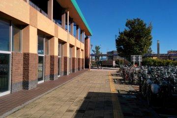 <p>Bicycle park next to Miraidaira Station</p>