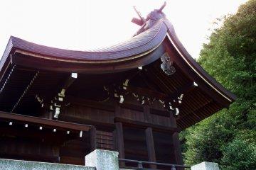 <p>The main prayer hall under the setting sun</p>