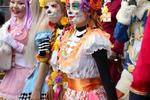 Some people had very intricate costumes and wearing amazing make up.