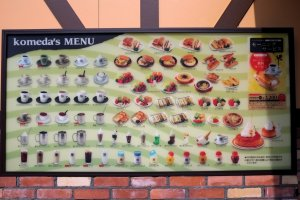 Mouthwatering menu