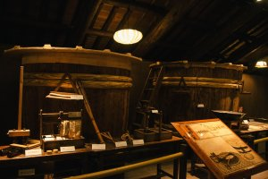 These are real tools used in traditional sake brewing