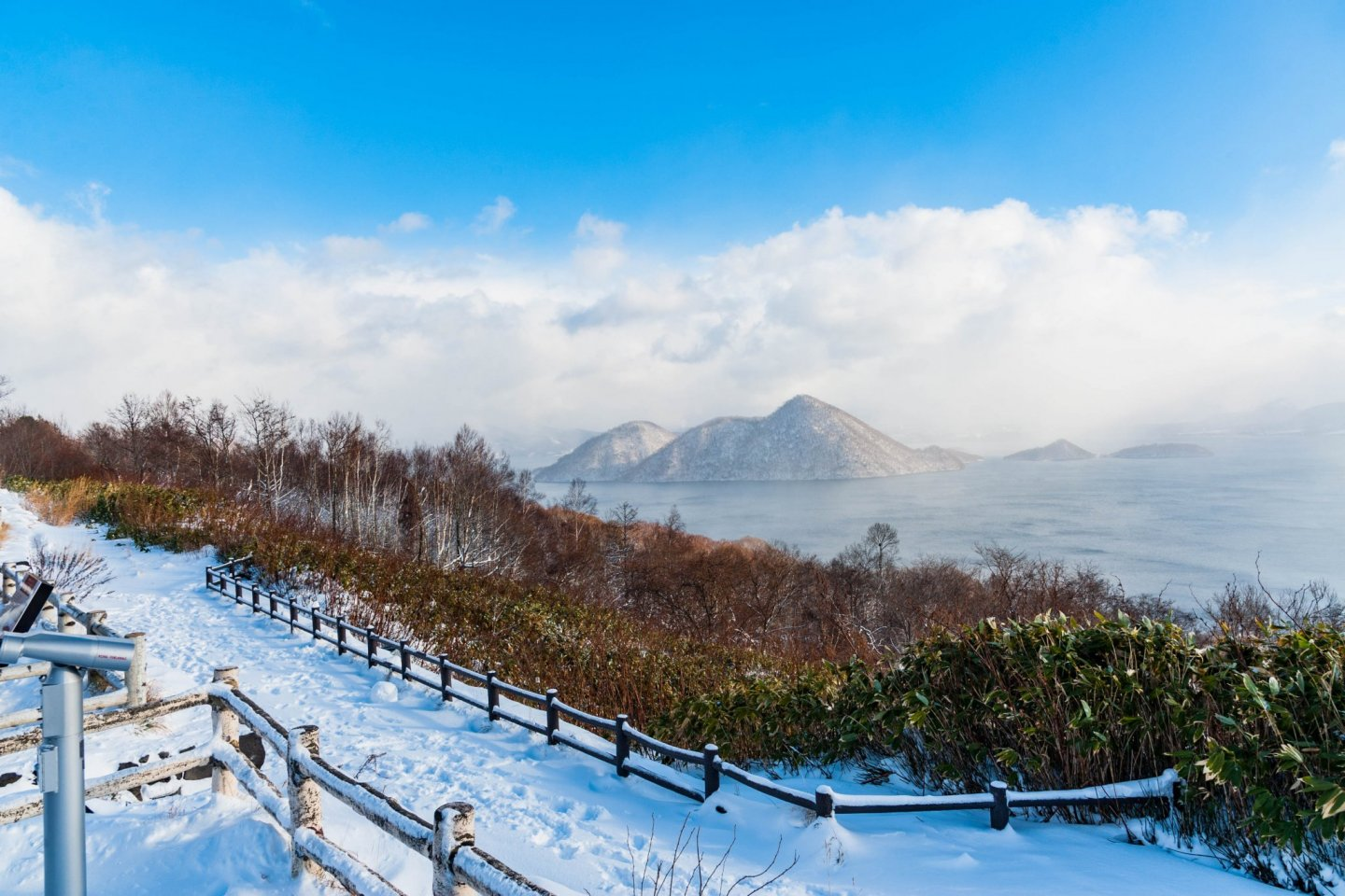 Lake Toya in winter