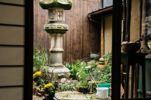 Small garden creates a more homey atmosphere.