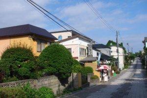 元町街道剛好設計成曲線
