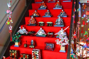 Hina dolls arranged for display in a local home