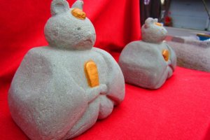 Makabe, known as the 'stone city', even has stone hina dolls
