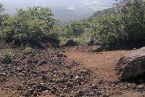 Le début du sol volcanique