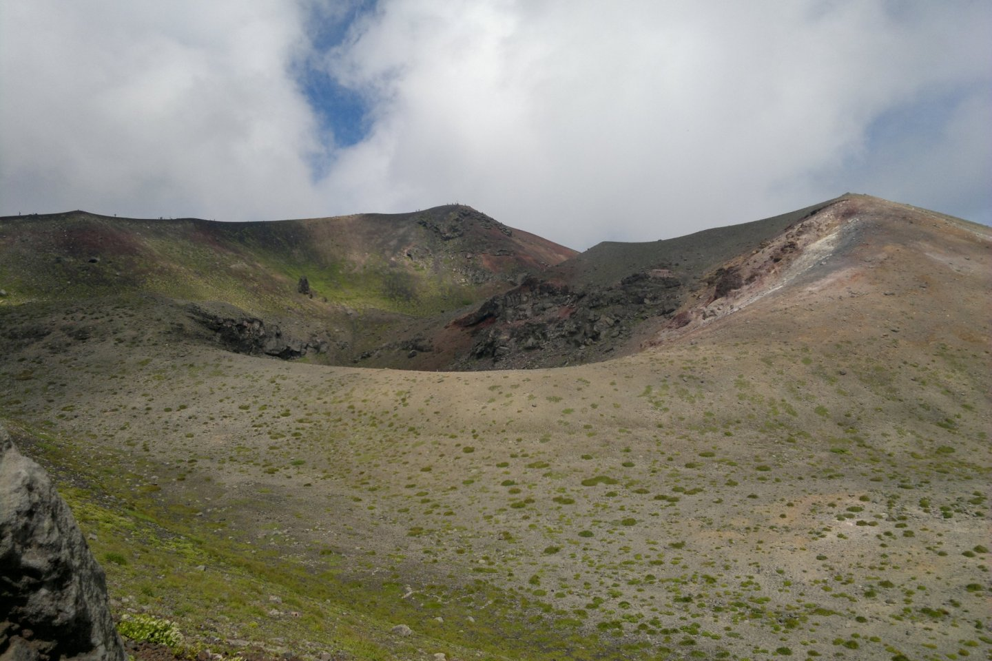 The top crater