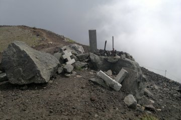 <p>Some shrines near the top.</p>