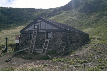 <p>One of the two lodges near the top</p>