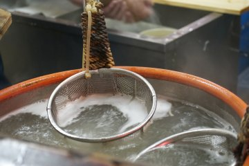<p>This is where the soba is boiled</p>