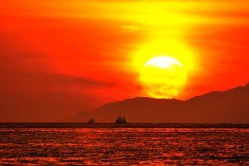 明石の夕陽