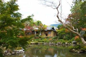 La maison de la cérémonie de thé Seisyu-An, niché dans le coin du jardin