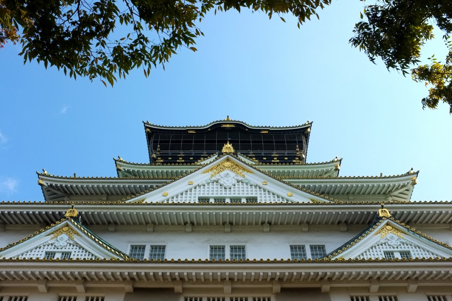 Osaka Castle. Such a tall and beautiful landmark.