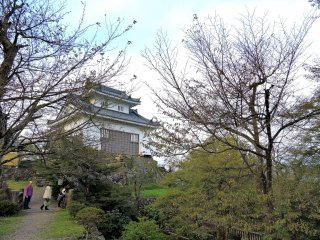 Echizen Ono Castle on top of Mt. Kameyama in mid October