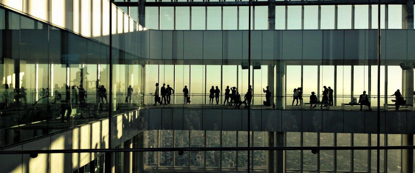 มุมมองสวยๆ ของจุดชมวิว HARUKAS 300 ณ ชั้น 60 ของตึก Abeno Harukas