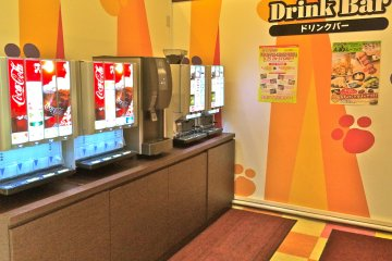 <p>Karaoke sessions typically include a complimentary Drink Bar (you might even find soft serve ice cream here, too!)</p>