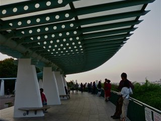 This is an observation deck. From here, you can see the bridge.