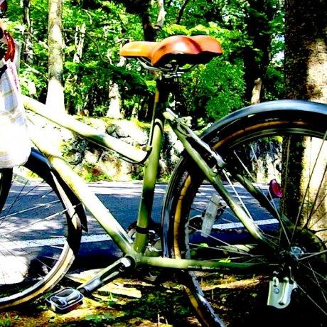 Bersepeda di sekitar Karuizawa
