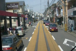 Mixing it with the traffic on Enoshima's streets