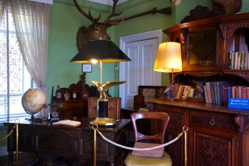 <p>Ben&rsquo;s office is filled with stuffed wild animals that he collected.</p>
