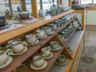 Inside a Kasamapottery store