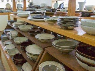 Inside a Kasama pottery store