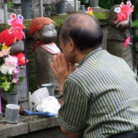 Estatuas Jizo del templo Zojo-ji