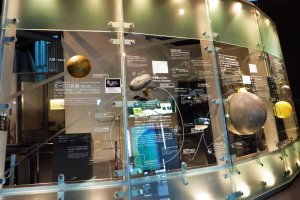 Miraikan has a lot of information on space and what humankind has discovered so far
