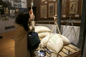 <p>Try lifting a jute bag filled with green beans</p>