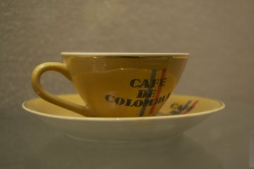 <p>A large collection of beautiful coffee cups can be seen at the UCC Coffee Museum</p>